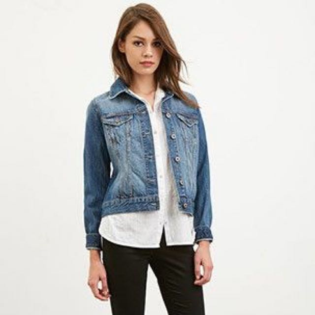 F21 Fitted Jean Jacket