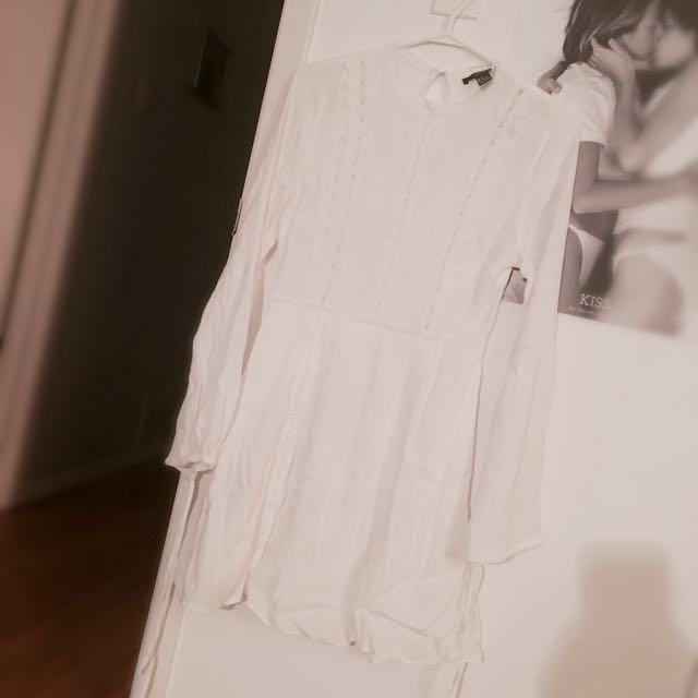 Forever 21 Modest White Dress