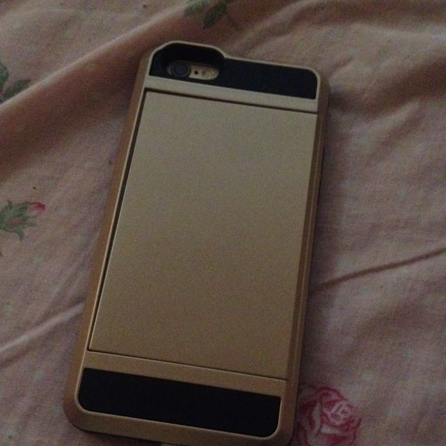 GOLD IPHONE 6 CARD CASE