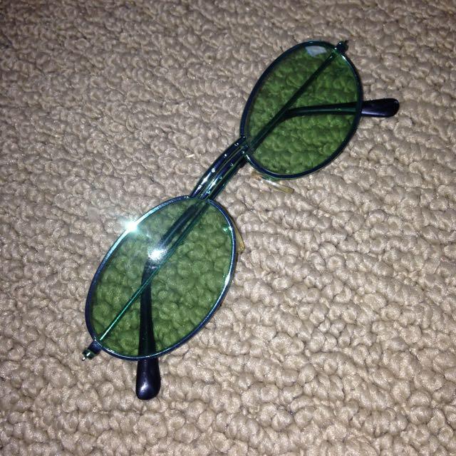 Green Vintage Glasses