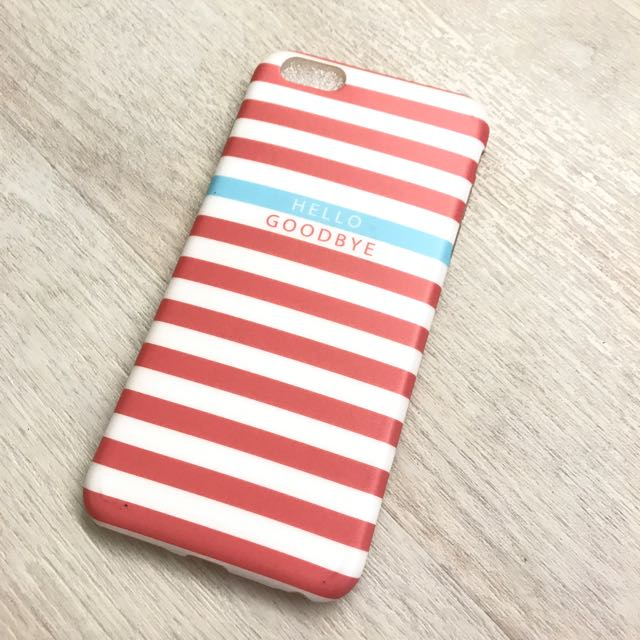 cheaper dc14d 5cad9 ❤️Hello Goodbye Stripey Iphone 6/6s Plus Cover Case