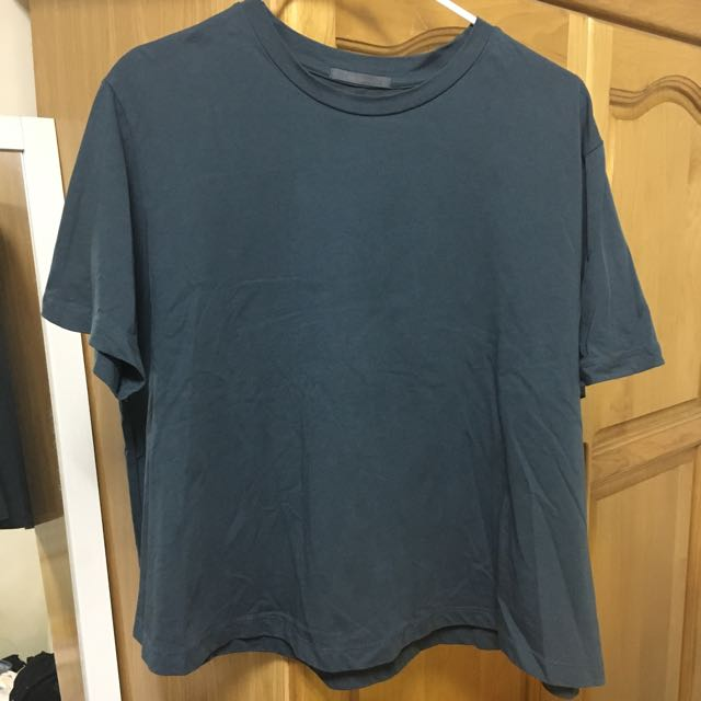 韓國INDIBRAND灰藍色短袖T恤上衣