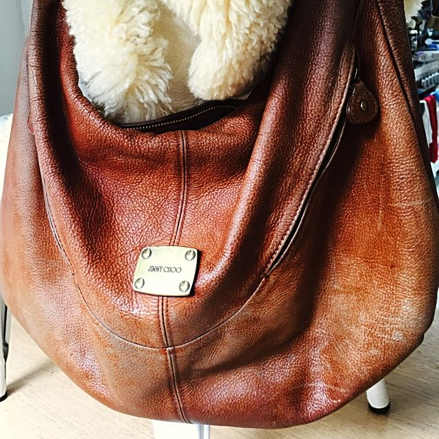 Jimmy Choo Tan Leather Boho Bag
