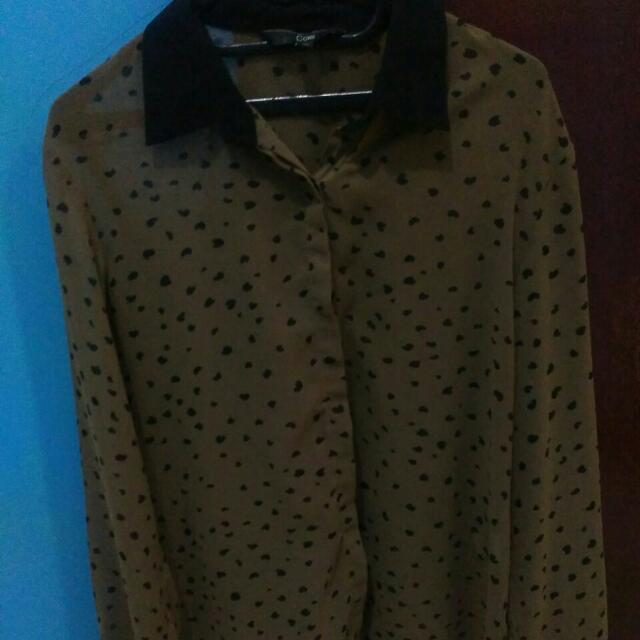 leopard blouse XL
