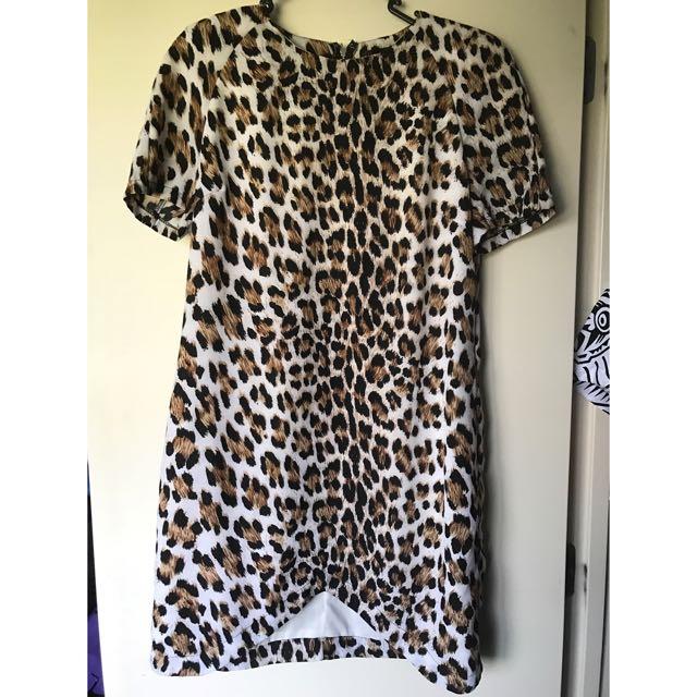 LEOPARD PRINT DRESS TOP