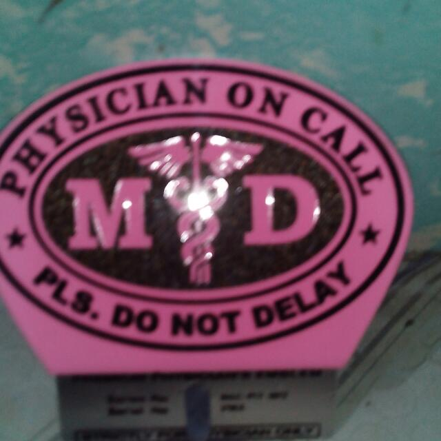 MD Plates Doctor On  Call Emblems