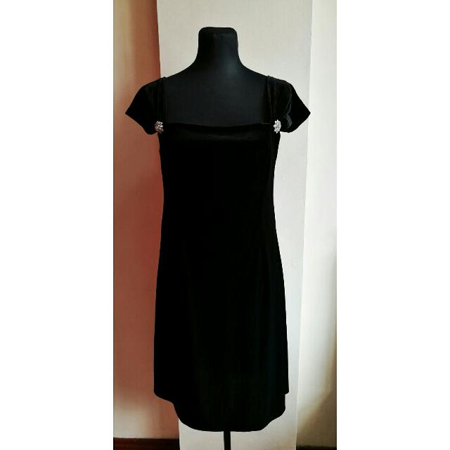 Mike Dela Rosa Black formal dress