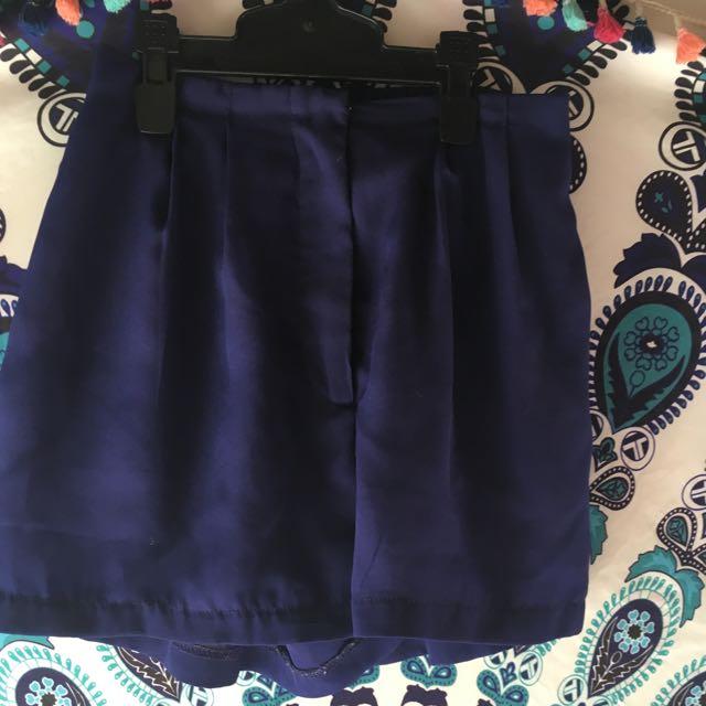 Navy Blue Little One Shorts
