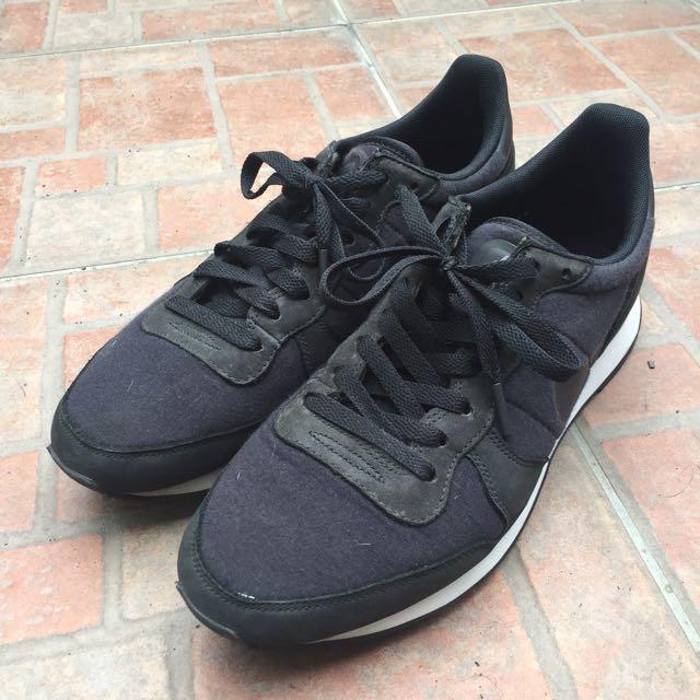 Nike Internationalist Tech Fleece 黑色 慢跑鞋