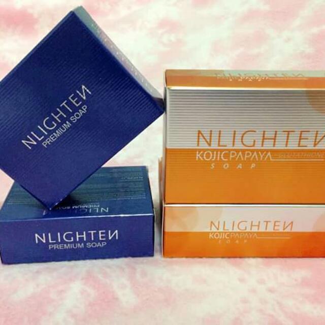 Nlighten Kojic Papaya with Glutathione soap AND Nlighten Premium soap
