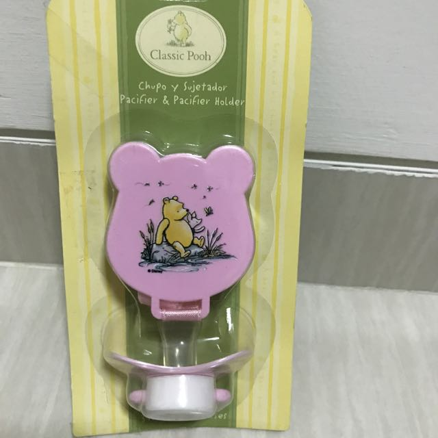 Pacifier & Pacifier Clip Winnie The Pooh
