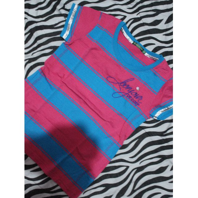Pink & Blue Blouse