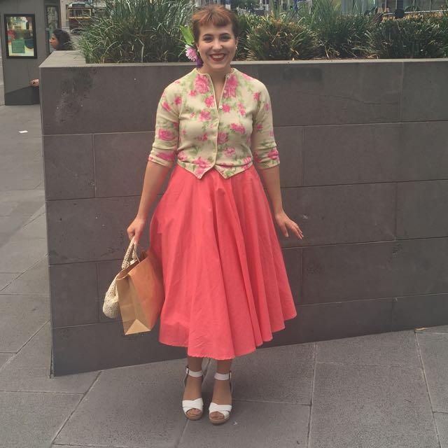Pink Pinup Circle Skirt