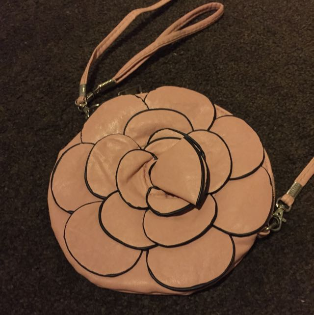 Pink Rose Shoulder Bag