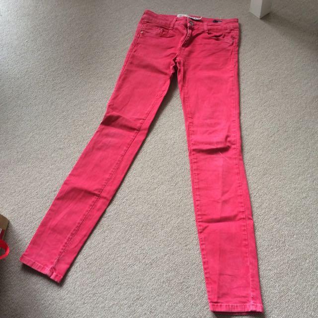 Pink Zara Skinny Jeans Pants