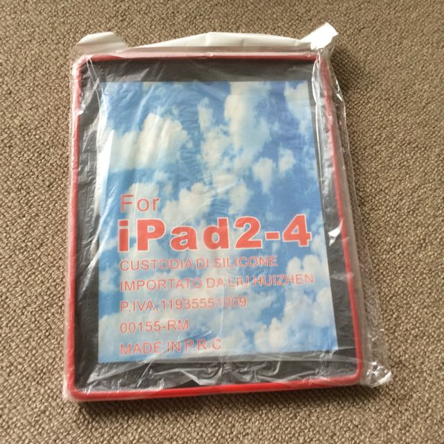 Red Ipad 2,3,4 Silicone Casing