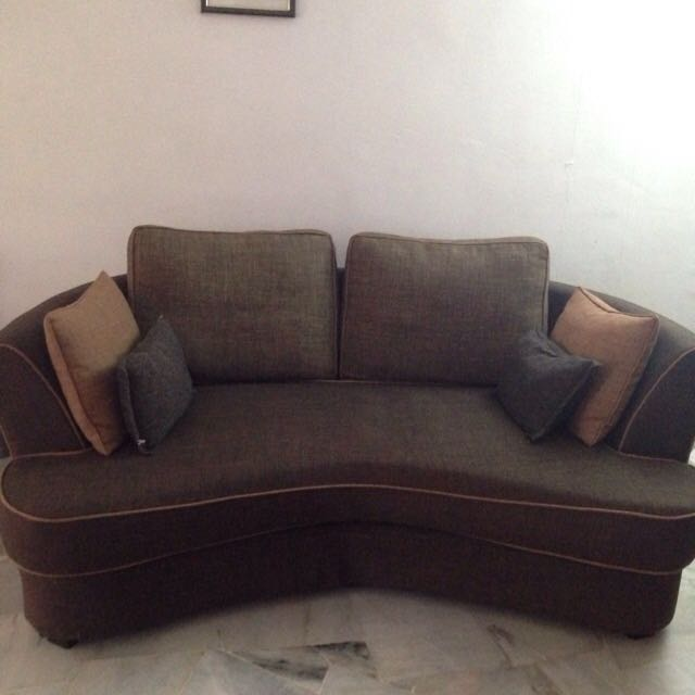 REDUCED - OFFER- Sofa Couch Curve Shape - Fabric
