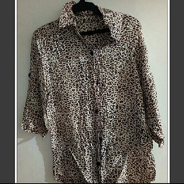 (Re-priced) Tiger Design Polo Shirt