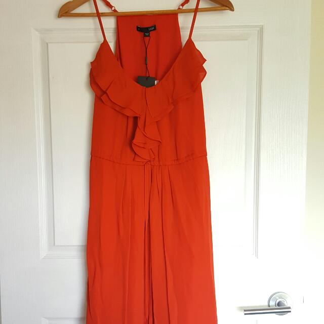 SABA 100% Silk Blood Orange Summer Dress BRAND NEW WITH TAGS $269
