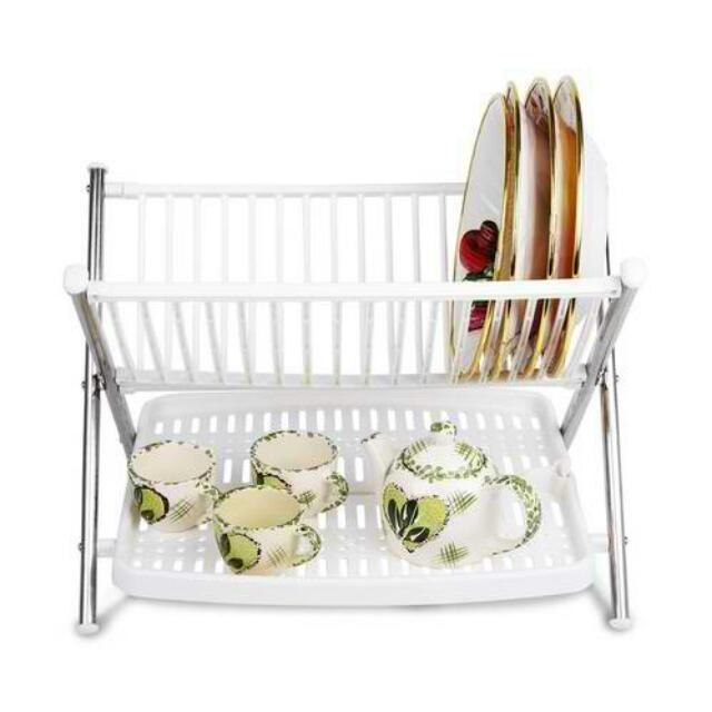 Image result for 2Layer Multifunctional Folding Kitchen Dish Rack