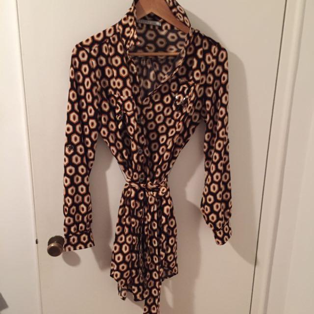 Size M/L Loose Dress With Sl belt Strap