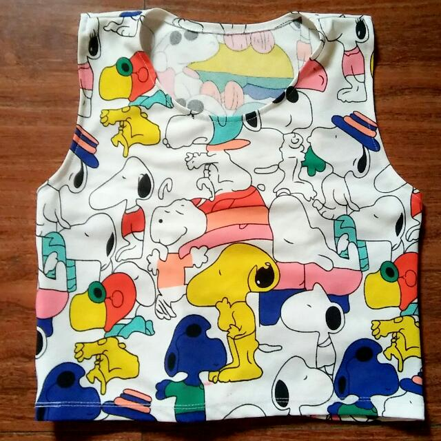 Snoopy Crop Top