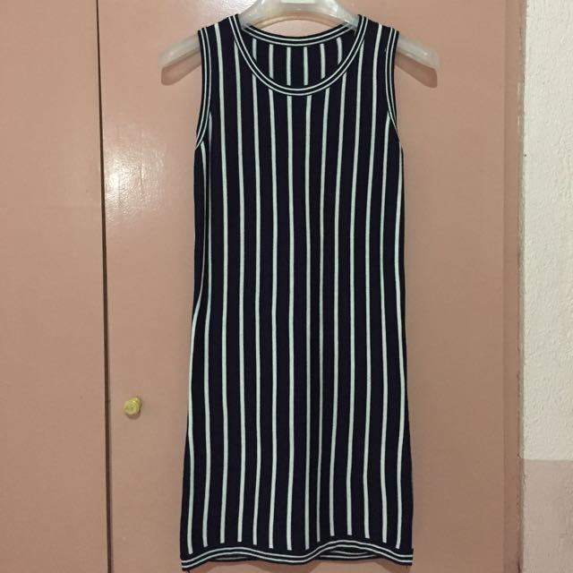 Stripes Sleevless Dress