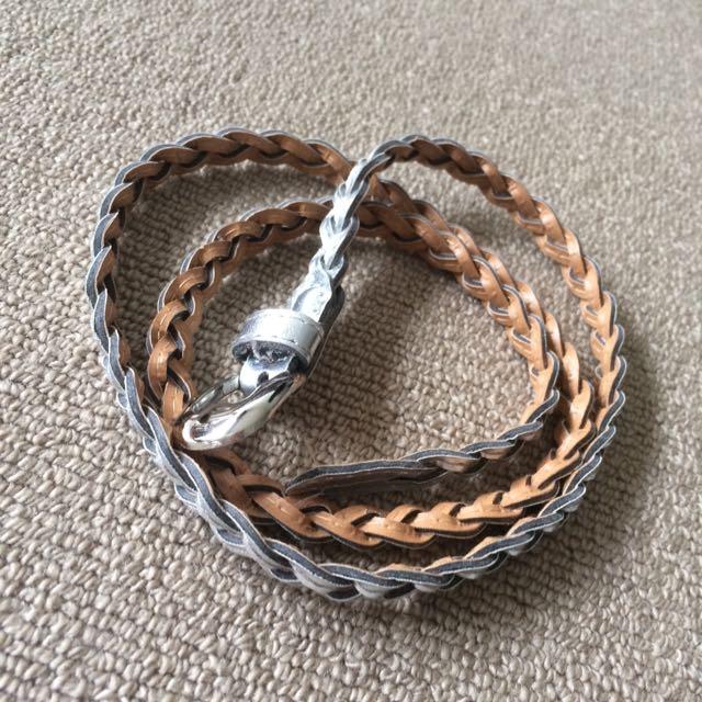 Waist Silver Braided Belt