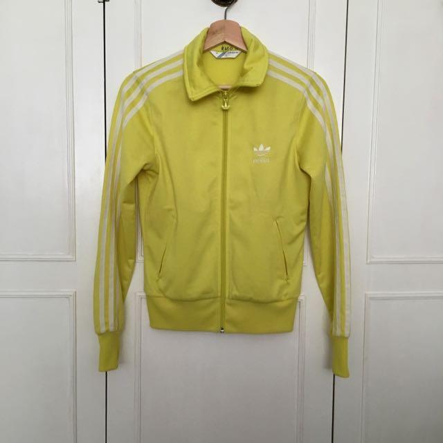 Yellow Adidas Three-Striped Jacket