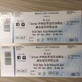 2x Alin Sonar CAT 2 Concert Tickets