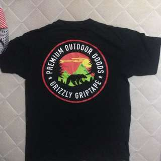 WTS DIAMOND SUPPLY GRIZZLY GRIPTAPE SKATEBOARDING TSHIRT