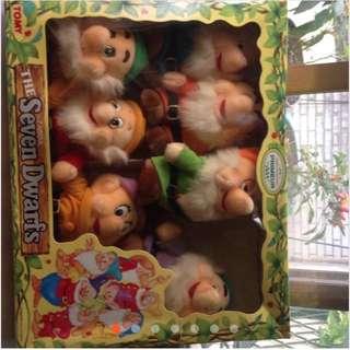 絕版七矮人迪士尼玩偶白雪公主