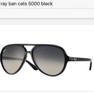 Rayban Cats 5000, Black