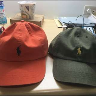 Polo 老帽 墨綠 橘色