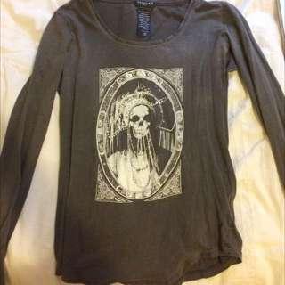 Aritzia Skull Top