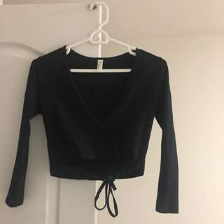 AMERICAN APPAREL Black Crop Top