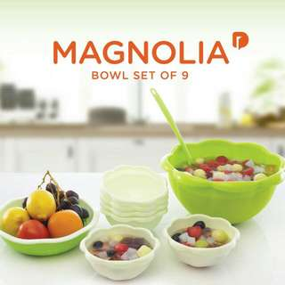 Magnolia Bowl Set of 9
