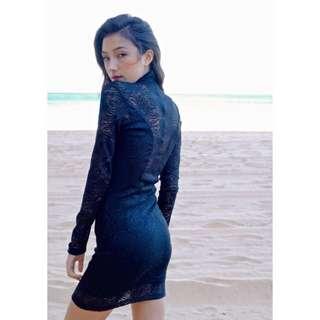 Aurora Black Lace Dress
