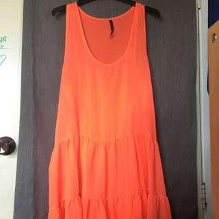 Garage - Fluorescent orange Dress