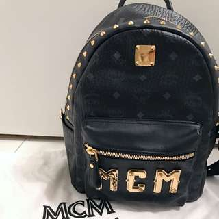 McM Small Backpack Black ( Munchen )