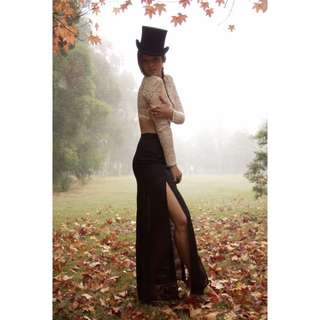 Faithfull Black Maxi Skirt