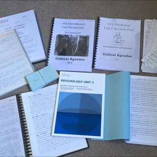VCE Psychology 3/4 Notes, Neap, Summaries Etc!