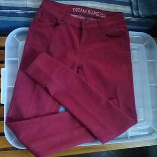 Soft Jeans Maroon Size 27-29
