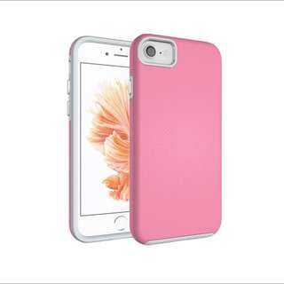iPhone 7 Case Hybrid Shock Modern Slim Non-slip Grip Cell Phone Case for Apple iPhone 7 - Soft Pink