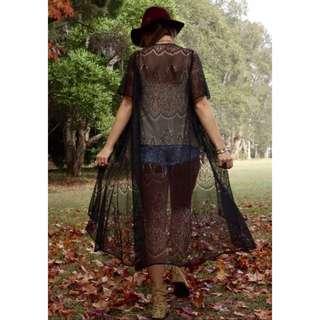 Pallenberg Black Lace Kimono