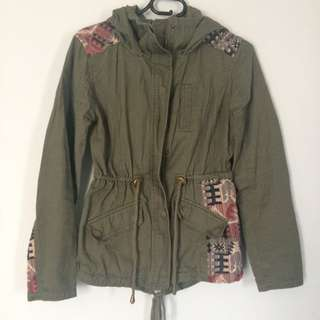 Cotton On Embroidered Cargo Jacket