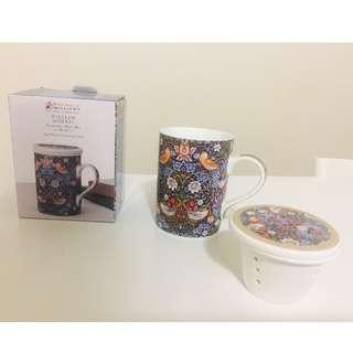 Maxwell Williams-William Morris Mug & Strainer Set