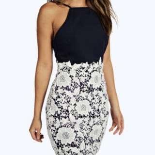 boohoo Lace Bodycon Dress