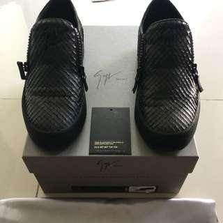 Giuseppe Zanotti Full Leather Zipped Slipon