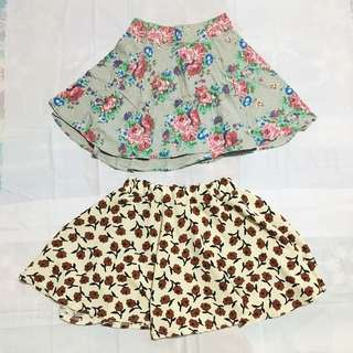 2 in 1 Floral Skirt (SALE!!! 💗)